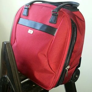 Victorinox Luggage Red Wheeled Carry-On Tote